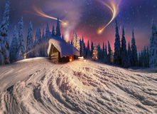 Christmas in the Carpathians Royalty Free Stock Photos
