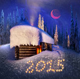 Christmas in the Carpathians Royalty Free Stock Image