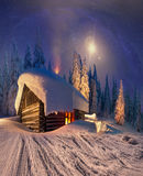Christmas in the Carpathians Stock Image