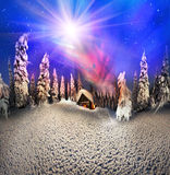 Christmas in the Carpathians royalty free illustration