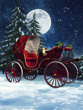 Christmas carriage Royalty Free Stock Photography