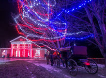 Christmas Carriage Ride Stock Image