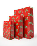 Christmas carrier paper bags Stock Photography