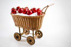 Christmas cart with baubles Stock Photos
