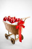 Christmas cart with baubles Stock Image