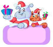 Christmas cartoon Stock Images