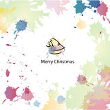 Christmas cartoon background Royalty Free Stock Image