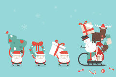 Christmas cartoon background Royalty Free Stock Images