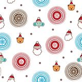 Christmas Cartoon Character Pattern Stock Image