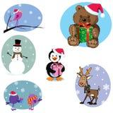 Christmas cartoon characters set Royalty Free Stock Photography