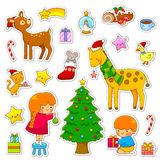Christmas cartoon collection Royalty Free Stock Photography