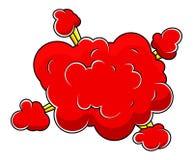 Christmas Cartoon Comic Cloud Stock Photos