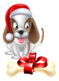 Christmas Cartoon Dog Stock Photos