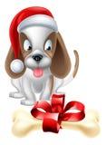 Christmas Cartoon Dog Stock Photos