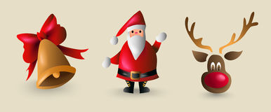 Christmas cartoon element set for decoration Stock Image
