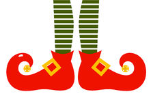 Christmas cartoon elfs legs Royalty Free Stock Images