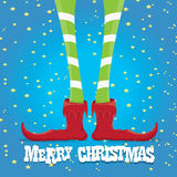 Christmas cartoon elfs legs Royalty Free Stock Photos