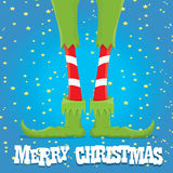 Christmas cartoon elfs legs Royalty Free Stock Image
