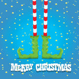 Christmas cartoon elfs legs Royalty Free Stock Photos