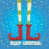 Christmas cartoon elfs legs Royalty Free Stock Photography