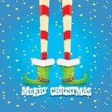 Christmas cartoon elfs legs Royalty Free Stock Images
