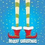 Christmas cartoon elfs legs Royalty Free Stock Image