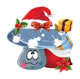 Christmas Cartoon face emotions Royalty Free Stock Images