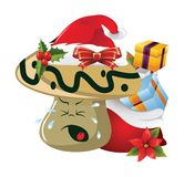 Christmas Cartoon face emotions Royalty Free Stock Image