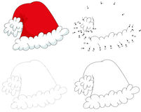 Christmas cartoon hat. Dot to dot game for kids Royalty Free Stock Photo