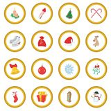 Christmas cartoon icon circle Royalty Free Stock Image