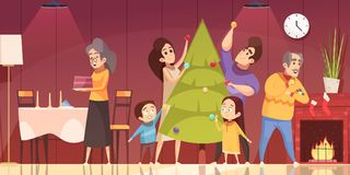 Christmas Cartoon Illustration royalty free illustration