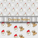Christmas Cartoon Pattern Stock Images