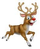 Christmas Cartoon Reindeer. A happy cartoon Christmas Reindeer running along Royalty Free Stock Photos