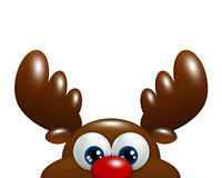 Christmas cartoon reindeer isolated over white background Royalty Free Stock Photography