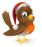 Christmas Cartoon Robin Royalty Free Stock Images