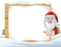 Christmas Cartoon Santa Claus Sign Royalty Free Stock Images