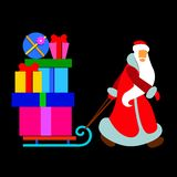 Christmas cartoon santa  winter holiday father claus illus Stock Photo