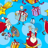 Christmas Cartoon Seamless Pattern Stock Photo