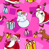 Christmas Cartoon Seamless Pattern Royalty Free Stock Photos