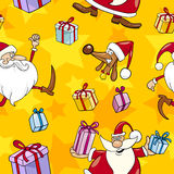 Christmas Cartoon Seamless Pattern Stock Photos