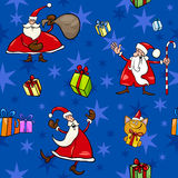 Christmas cartoon seamless pattern decor Stock Photography