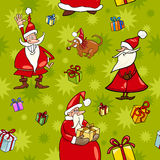 Christmas cartoon seamless pattern design Royalty Free Stock Image