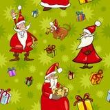 Christmas cartoon seamless pattern design Royalty Free Stock Image
