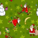 Christmas cartoon seamless pattern design Royalty Free Stock Photos