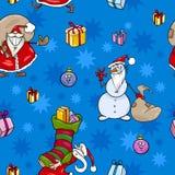 Christmas cartoon seamless pattern design Stock Photo