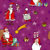 Christmas cartoon seamless pattern tile Stock Image