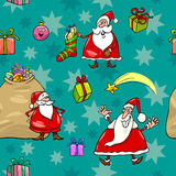 Christmas cartoon seamless pattern wrapper Royalty Free Stock Photos