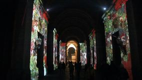 Christmas in caserta stock video footage