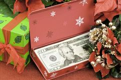 Christmas Cash Royalty Free Stock Photography