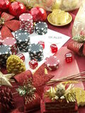 Christmas casino background Royalty Free Stock Image